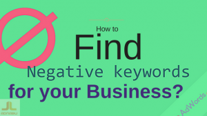 Negative keywords google adwords