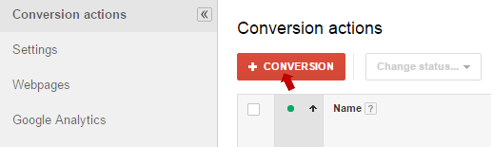 Creating new call conversion for AdWords