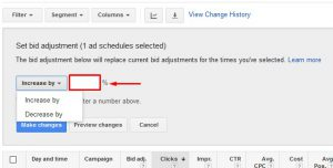 ad scheduling bid adjustments