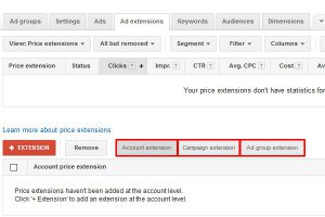 Price extensions 5