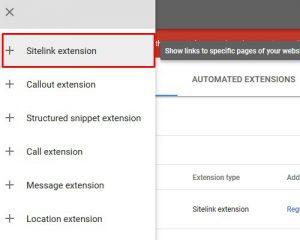 sitelink extensions 3