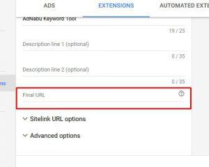 sitelink extensions 7