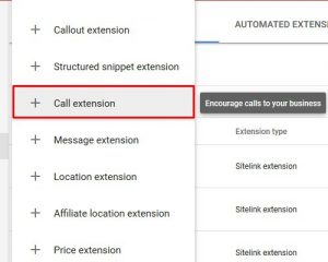 Call extensions 3