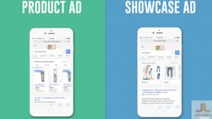google showcase ads