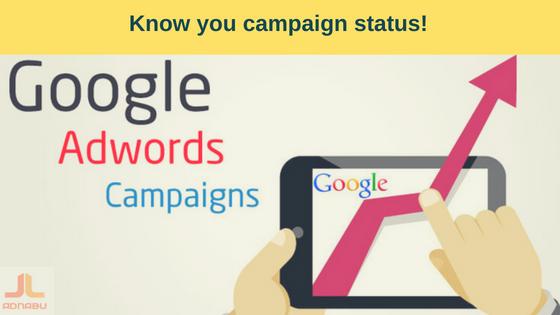 campaign status in adwords