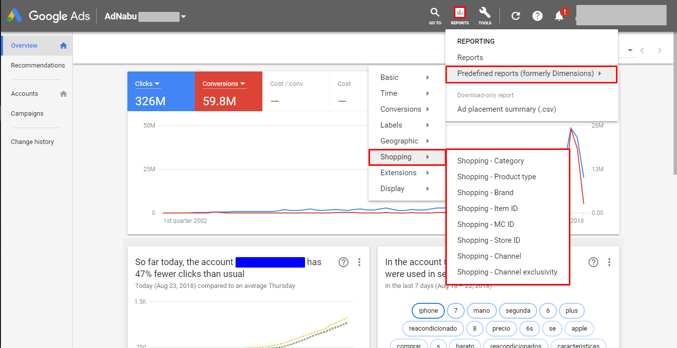 Smart Shopping Campaigns - Predefined Reports