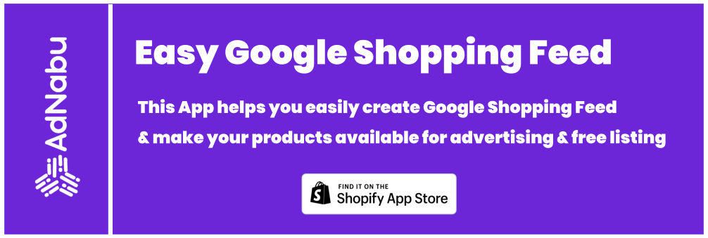 Shopify Google Shopping Feed